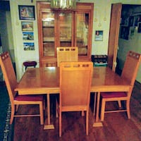 Solid Oak Dining Set & Lighted China Cabinet Kettering, 20774