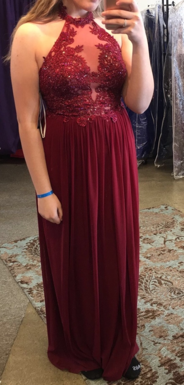 ab7ac374ba Used Red Halter Jovani Prom Dress for sale in Waterloo - letgo
