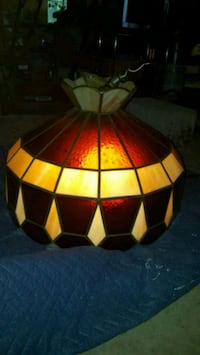 red and gold tiffany style lamp La Plata, 20646