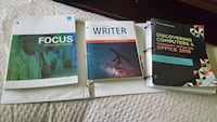 3 unbinded college books