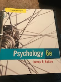 Psychology 6th edition used in PSY 200 in perfect condition