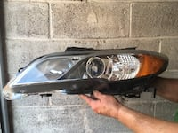 silver housing car headlights