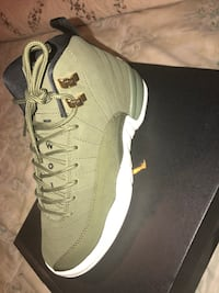 Olive canvas air jordan 12 Retro  Sunrise, 33351