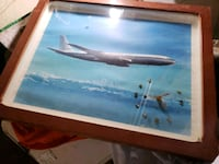 Airplane framed picture and clock St. Louis, 63129