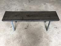 Black wood bench Hamilton