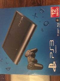 svart Sony PS3 Slim-boks 6271 km