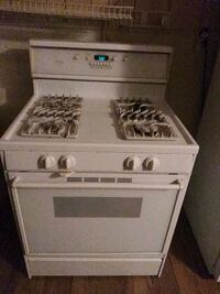 Gas stove with new flex gas line Muskogee