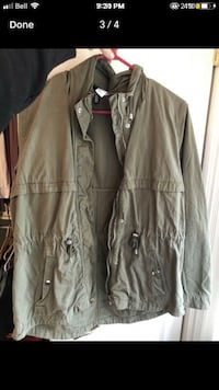 OLIVE GREEN ANORAK JACKET Waterloo
