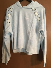 Victoria Secret Pink Sky Blue Hooded Crop Top. Omaha, 68134