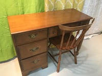 Vilas Quality Vintage Solid Wooden Desk and Chair London, N5X 2J1
