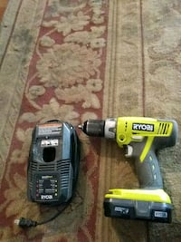 Ryobi cordless drill with charger