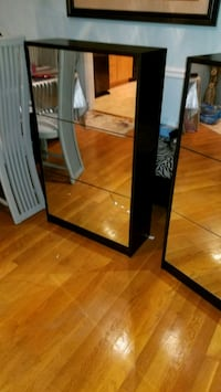 rectangular black wooden framed mirror 46 km