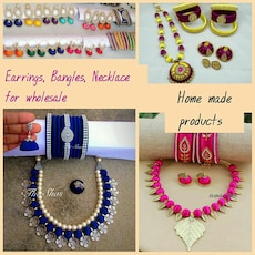 Earrings, Bangles, Necklace Home made Products