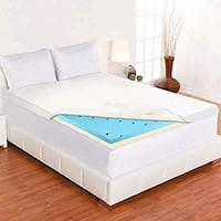 "New 2"" gel memory foam mattress topper with cover Bakersfield, 93313"