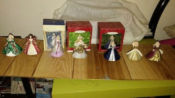Holiday barbie collectibles figurine ornaments