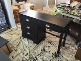 Shabby chic refurbished desk. Beautiful mat Fusion Black. Delivery