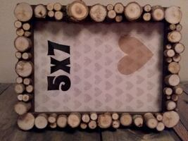 Wood Slice Mosaic Picture Frame