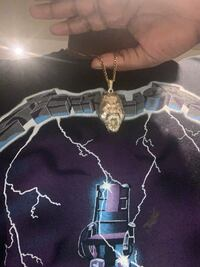 Gold chains with gorilla and knife pendant Mississauga, L5V 1R2