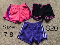 Girl size 7-8 athletic shorts for $20 Pleasant Hill, 50327
