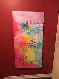 Colourful abstract painting Brampton, L6V 4S3