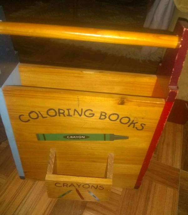 Crayon and coloring book holder