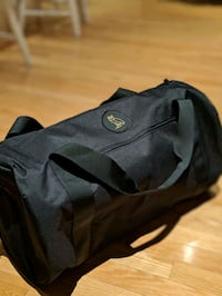 BLACK OVO DUFFLE BAG