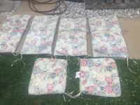 Patio seat pads - six pieces - $25 for all  Hagerstown, 21740