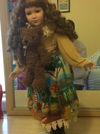 doll on yellow forest print long-sleeved dress Lincoln, 68516