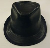 Black 100% Genuine Leather Fedora. Minneapolis, 55413