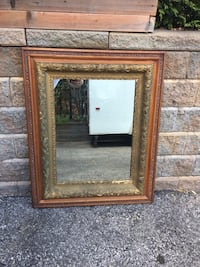 Beautiful Antique Mirror w/ Carved Oak Frame Innisfil, L9S 1T4