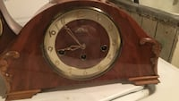 White and brown analog mantle clock Toronto