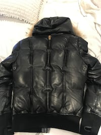 Mackage leather bomber for women XS
