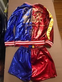 blue and red long-sleeved dress New York, 10460