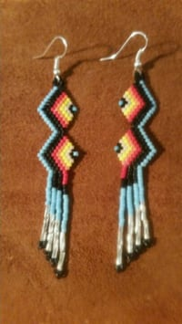 Beaded Dangle Earrings Guttenberg, 07093
