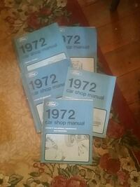 five Ford 1972 car shop manuals Hanover, 17331