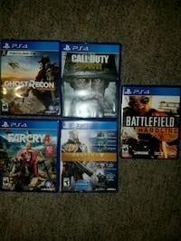 six assorted PS4 game cases Springdale, 72764