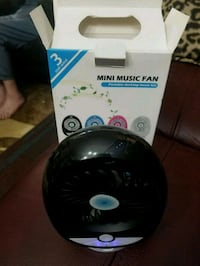 MUSIC FAN 3 SPEED/BT SPEAKER/RECHARGEABLE  London, N6P 0E2