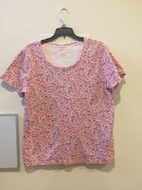 White Stag, L, Short Sleeve Shirt with Flowers Ashburn