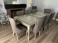 Dining set table with leaf and 10 chairs