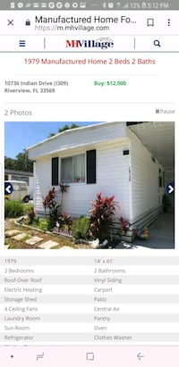 Singlewide mobile home Riverview, 33579