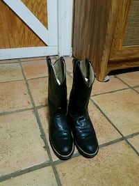 Leather boots 61/2 M youth Made in USA Amarillo, 79119