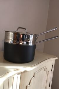 All-Clad LTD 3 Qt Sauce pan with double boiler insert. East Islip, 11730