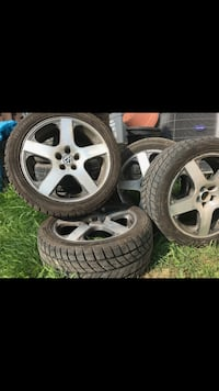 5 bolt winter tires with rims. Need gone ASAP! Tread is  [PHONE NUMBER HIDDEN]  Toronto, M3M 1R9