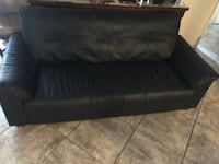 black leather 2-seat sofa Santa Ana, 92704