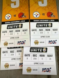 Steelers tickets browns club 4 in row