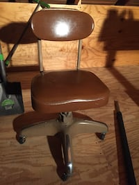 two brown leather padded bar stools New Bedford, 02744