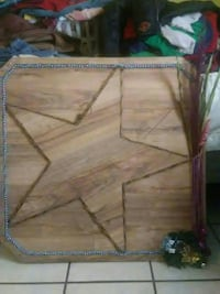 brown wooden star print wall deco Amarillo, 79102