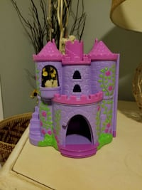 purple and pink 2-storey castle playset
