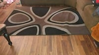 brown and white area rug Bethany, 73008