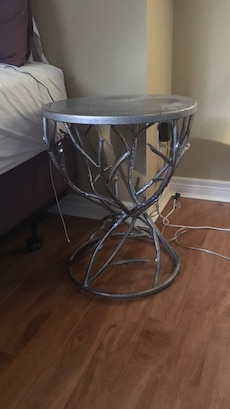 stainless steel round side table